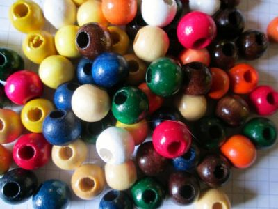 12mm Wood Beads Choice of Colour